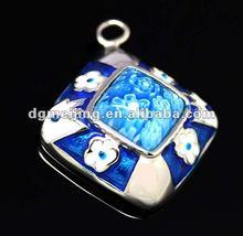 2012 Stylish Blue&white Big stone pendant Jewelry
