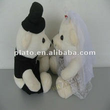 plush toy dressed bear couple