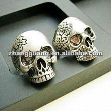 2012 hot sell diamond skull wedding ring