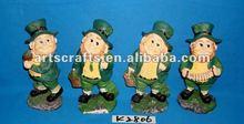 Polyresin Saint Patrick 4 designs