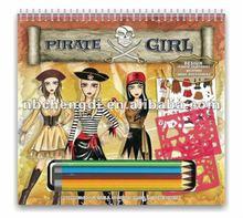 pirate girl design sketch portfolio kit