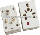 5A Travel Plug With Voltage Light Indicator(with fuse)
