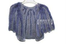 2014 new type knittjing fur vest rex rabbit