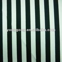 4-Way Stretch Printed knitted swimwear spandex blue and white striped bikini fabric