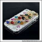Cheap mobile phone case for iphone4G/S with sumptuous jewellery