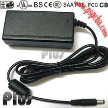 12V series plug in or desktop flip video power adapter (UL,cUL,CE,FCC,GS approved)