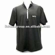 Men's Half Zip T-shirt, Eco-friendly Clothing, Good Colorfastness