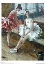 Best price for handmade beautiful dancing girl oil painting