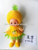 DIY 20 inch hot Sale cute Fruit Doll for children-pineapple