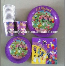 Disposable party tableware (Paper napkins,cups,plates)