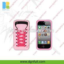 Cute shoe shape popular case for iphone 4