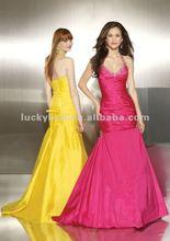 2014 Halter Flirt Plus Size Modest Balo elbisesi