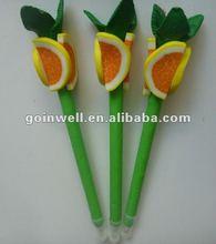 navel orange polymer clay pen