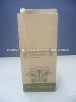 environmental friendly brown kraft paper bag for food