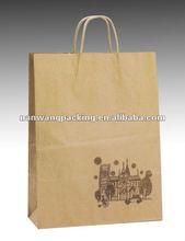 100% natural brown kraft grocery paper bag
