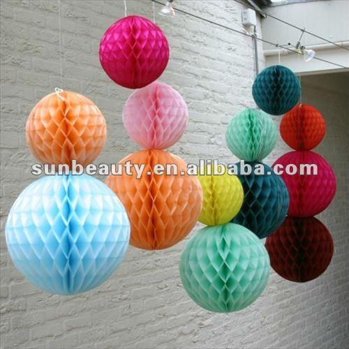 Nido de abeja de papel decoración de bolas