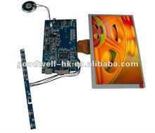 AV VGA HDMI Input Touchscreen 8 inch lcd module 800x480