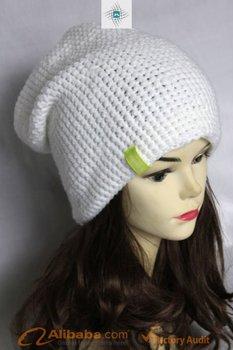 100% ACRYLIC HAT,HAND KNIT BEANIE,HAT