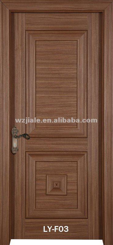Moderne bois conception de la porte pvc porte porte de la for Porte de chambre en bois