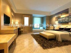 high quality modern Malaysian Oak Solid Wood and White Oak Veneer Bedroom Furniture AZ-R1