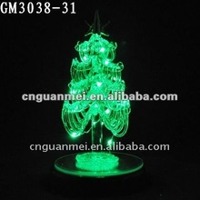 christmas decoration glass tree with led light