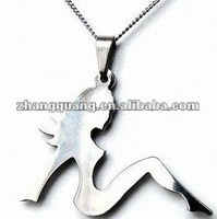 Fashion charming sexy siting girl pendant necklace