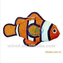 Hermosa y de cumpleaños diseño de los pescados piñata