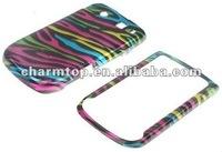 Colorful Zebra Pattern Case for Blackberry Torch 9800