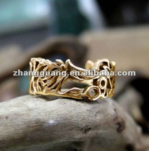 2014 Fashion hot sale style rings for lucky wide gold rings