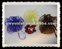 round Organza Wedding Jewelry Favor Xmas Gift Candy Bags Pouches XES