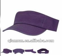 2012 hot selling cotton empty top sun visor cap with velcro