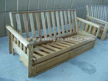 living room furniture, wooden futon frame