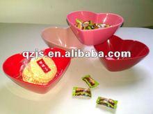 melamine heart bowl for candy