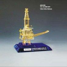 Best k9 crystal design gold or silver driling oil rig model