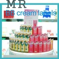 Personalizado de la etiqueta privada de cosméticos, bb crema de etiquetas adhesivas