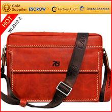 Character messenger bag genuine leather men