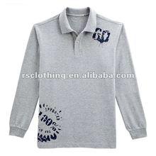 Mens Long Sleeve Cotton Pique Polo Shirt