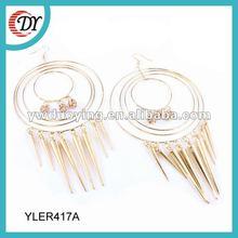 new design 24k gold big hoop earrings