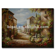 High quality classic med scenery oil painting on canvas