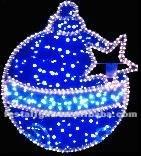 Holiday time Christmas LED, LED lighting ball/christmas ornament ball (Blue/Red/Green)
