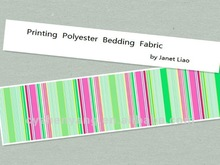 Polyester Fabric With Stripe Pattern