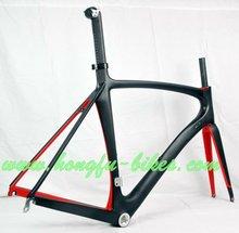 red/black paint t700 carbon road bike frame 2012