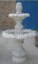 Garden 2 tier granite stone water fountain