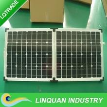 80 Watt portable folding solar panel Kit with regulator wiring and legs