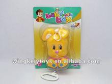 pull line cartoon plastic baby bell cartoon rabbit bell