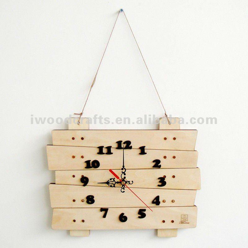 Reloj de pared mudo de madera del estilo europeo
