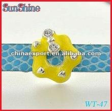 Latest Cute Flower Shaped Alloy Slide Beads for DIY Bracelet