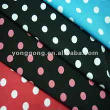 Knitting Printed Polka Dot spandex lycra swim fabrics