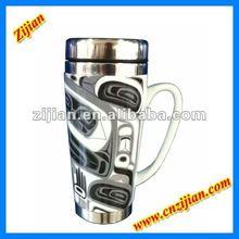 16 oz SS ceramic coffee mug