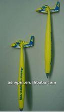 airplane soft pvc flexible fridge magnet pen